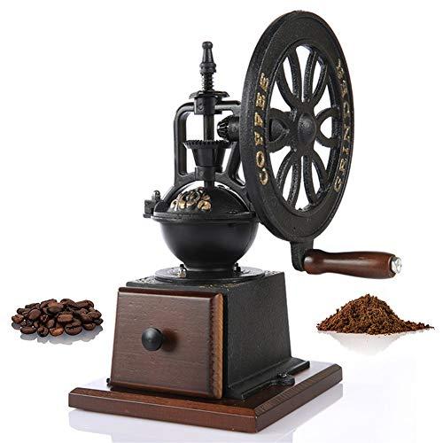 Bureau Moulin à café manuel Moulin à café rétro moulin à main ménage moulin à meule grande roue Moulin à café manuel Graines de noix