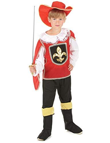generique Costume Moschettiere rosso bambino 4/6 anni (104/116)