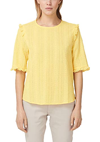 s.Oliver RED LABEL Damen Bluse mit Lochstickerei lemon squeeze 42