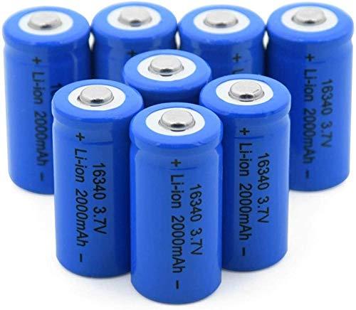 16340 3.7V 2000Mah Batería De Iones De Litio Recargable De Iones DeLitio para Cr123A Cr17345 K123A Vl123A Dl123A 5018Lc 10Pcs-8Pcs