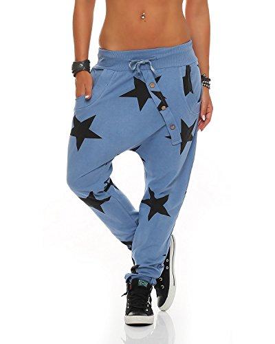 Femmes d/'été Strandhose Yoga Tissu Pantalon Harem Décontracté Pantalon bouffant Ballonhose