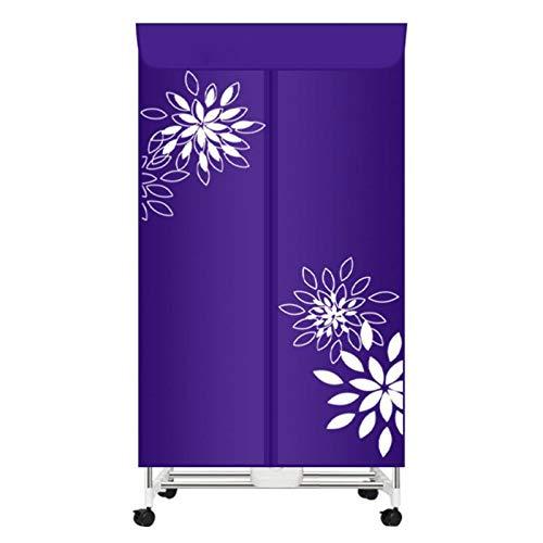 Secadora de Ropa Eléctrica Portátil Ropa de máquina seca, Secadora de ropa Hogar cálido Secado rápido Capacidad de gran capacidad Doble layer Secado Armario para ropa de ropa ( Color : Deep purple )