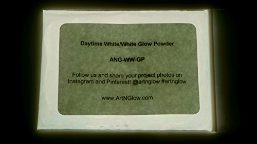 Neutral White Glow in The Dark Pigment Powder - 60g (2 Ounces) - 10+ Colors Available