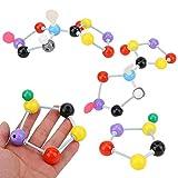 NOBRAND 307 Unids Kit de Modelo de Química Orgánica Modelo Molecular Estudiante o Maestro Paquete de Modelo Molecular de Aprendizaje de Química Orgánica e Inorgánica