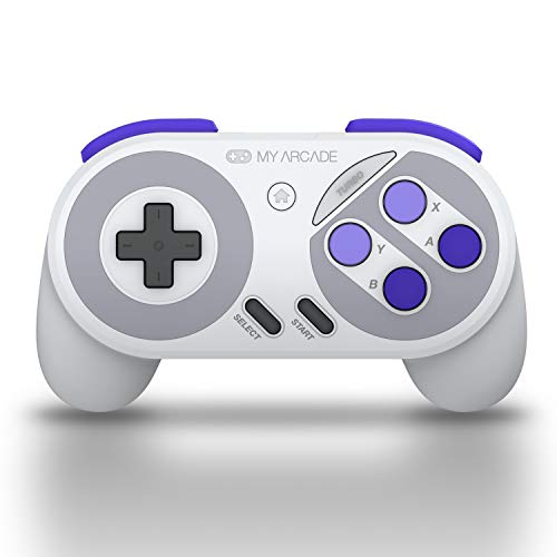 My Arcade Super Gamepad - Wireless Gaming Controller for Nintendo SNES Classic, NES Classic, Super Famicom, Wii, Wii U (Super NES Colors)