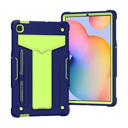 QYiD Funda para Galaxy Tab S7 11' 2020 (SM-T870/T875), 3 en 1 Híbrida Carcasa a Prueba de Golpes Protector Case con Soporte & Portalápices para Samsung Tab S7 11 2020, Azul Marino/Olivine
