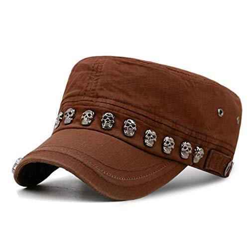 Sombrero de béisbol Unisex con diseño de Calavera Punk Rock y Esqueleto, con Remaches Militares 7 M (Ropa)