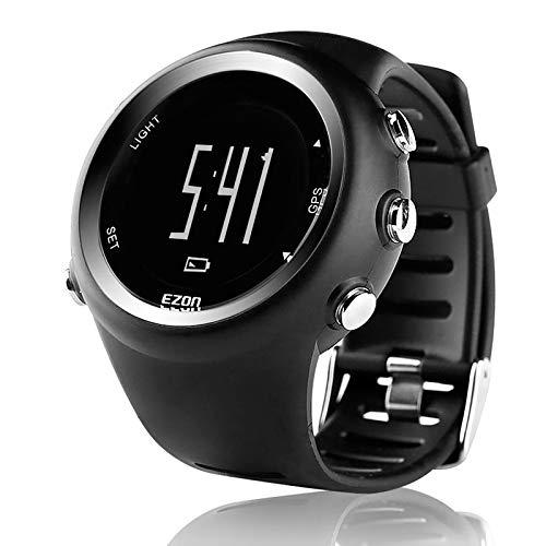 ZGZYL GPS Sports Watch Men and Women Outdoor Ocio Digital Reloj Digital con Contador De Calorie, Recordatorio De Pace, Cronómetro, Reloj Podómetro Muñeca,C