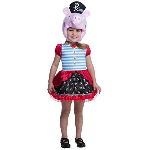 Nickelodeon Peppa Pig Pirate Child Costume 3-4T