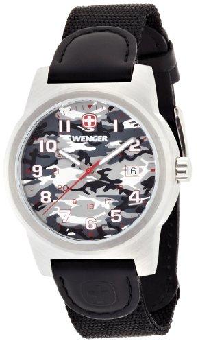 wenger - 010441108 - Montre Homme - Quartz Analogique - Bracelet Nylon Noir