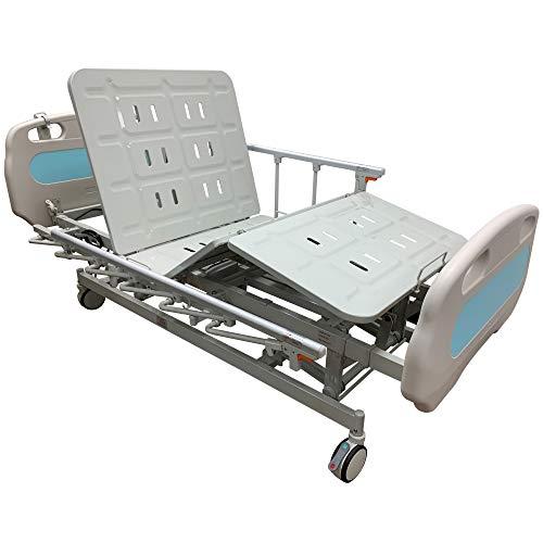 Hopefull Premium 3 Function Full Electric Hospital Bed (LINAK/DEWERT Actuators and Controller, Metal Slots)