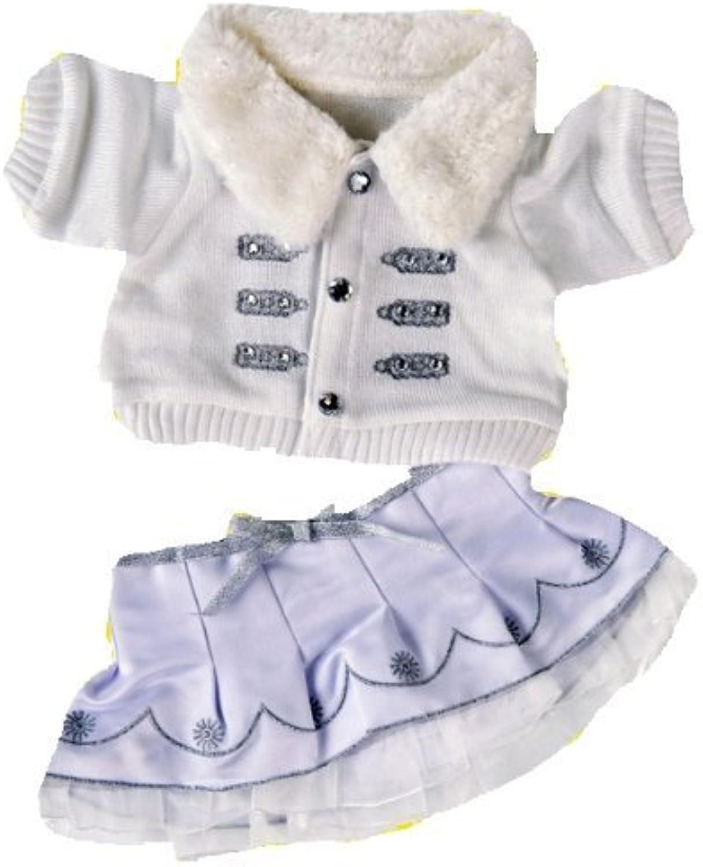 tienda de venta en línea Teddy Mountain Winter blanco & plata plata plata Outfit   Teddy Clothes to fit Build a Bear   Bear Factory Bears  Todos los productos obtienen hasta un 34% de descuento.