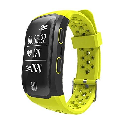 LEOTEC Pulsera de Actividad Training Band - Pulsera de Actividad,GPS Real, con Monitor de frecuencia Cardiaca en la muñeca, Monitor de Actividad,Sumergible y notificaciones Inteligentes, Color Verde
