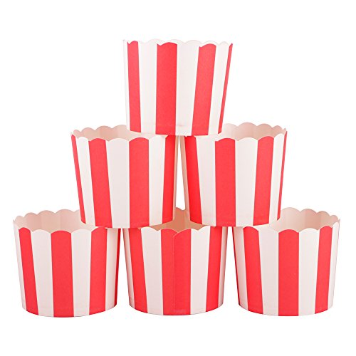 Webake Large Paper Cake Baking Cup Cupcake Muffin Cases,Set of 25 (Red)