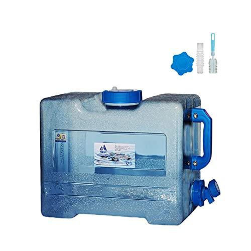 Jayehoze Bidón de Agua Potable portátil, bidón de Agua, 618L con Grifo de Comida de Boca Ancha Gratis para Acampar Coche Azul portátil Adecuado para Acampar y Conducir al Aire Libre Effectual