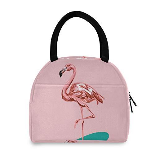 California Pink Flamingos Sac à déjeuner portable isotherme pour femmes, hommes, garçons, filles, sac fourre-tout réutilisable, bureau, école, pique-nique