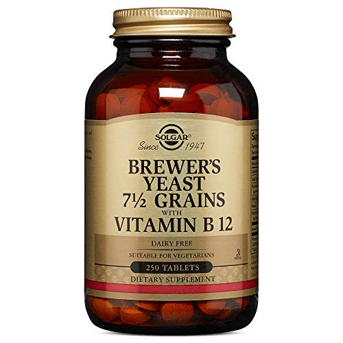 Solgar Brewer's Yeast with Vitamin B12 Tablets - Pack of 250