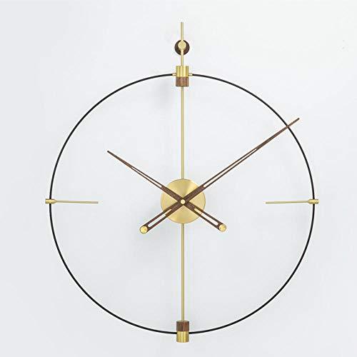 Topashe silencioso Que no Hace tictac Reloj de Pared,Reloj Creativo Simple, Reloj de Gran tamaño-A_80cm,Reloj de Pared Mute Moda Escuela