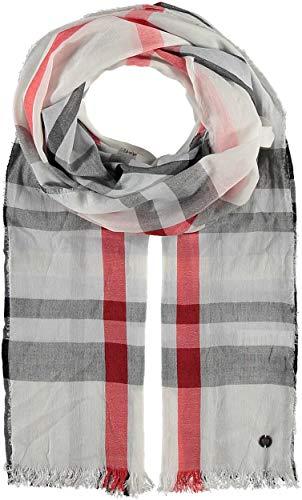 FRAAS Damen-Schal kariert aus Viskose-Mischung - 62 x 180 cm Größe - Modische Stola im Karo-Muster mit Fransen - Perfekt für den Frühling und Sommer Off White