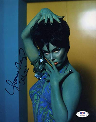 Yvonne Craig Psa Dna Coa Signed 8x10 Star Trek Photo Autograph
