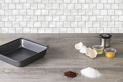 Deluxe Nonstick Bakeware, Professional Square Baking Pan, Charcoal colored.