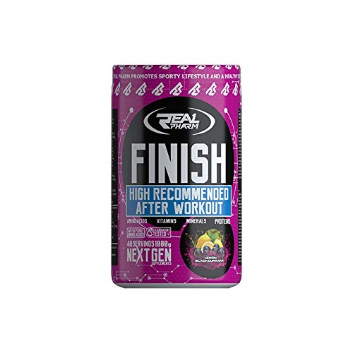 Real Pharm Finish 500g, High Recommended After Workout, Amino, Vitamins, Minerals, Proteins, 40 Servings (Fruit Punch)