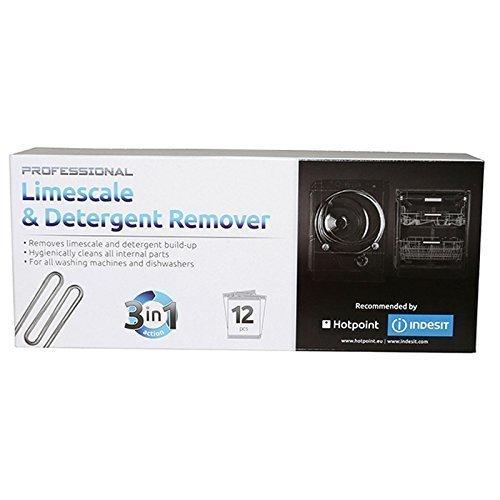 Hotpoint Disincrostante anti-calcare per lavatrice e lavastoviglie, 12 bustine da 50 g