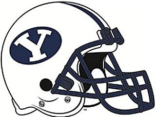 5 Inch BYU Logo Football Helmet Decal Brigham Young University Cougars Removable Wall Sticker Art NCAA Home Room Decor 5 by 3 1/2 Inches