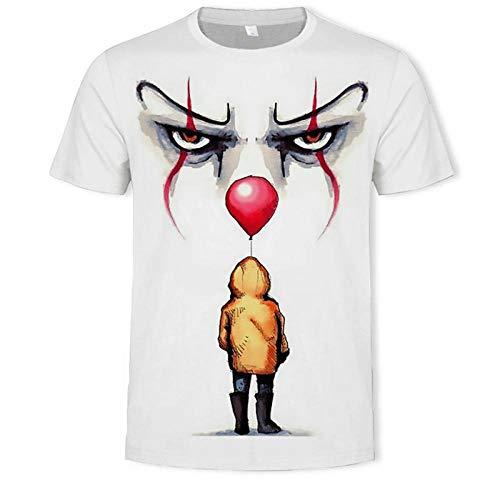 XIAOHU Camisetas 3D Manga Hombres...