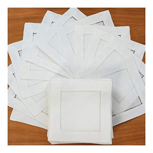 ZRDY 45x45cm Tabla de la Boda 12PCS Blanca servilletas de cóctel servilleta Partido por sábana de algodón servilletas servilletas y 35x50cm Soft (Color : White 20x20cm)