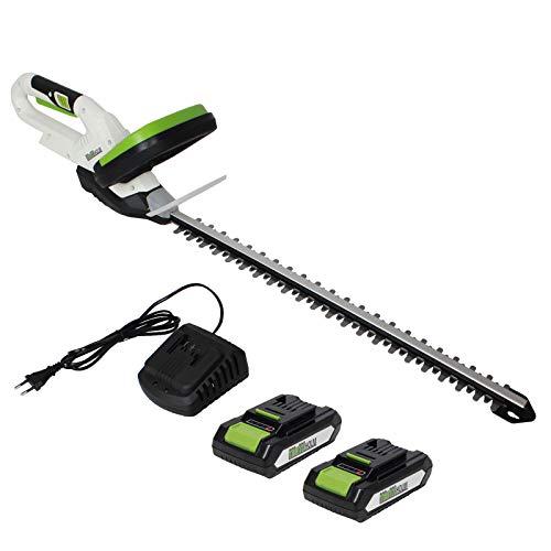 TrutzHolm® Akku Heckenschere 20V/2.0Ah mit 2 Akkus und Schnellladegerät Schnittlänge 520 mm
