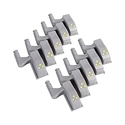 10 PCS Universal Cabinet Cupboard Hinge LED Light For Modern Kitchen Home Lamp, Warm White/Cool White
