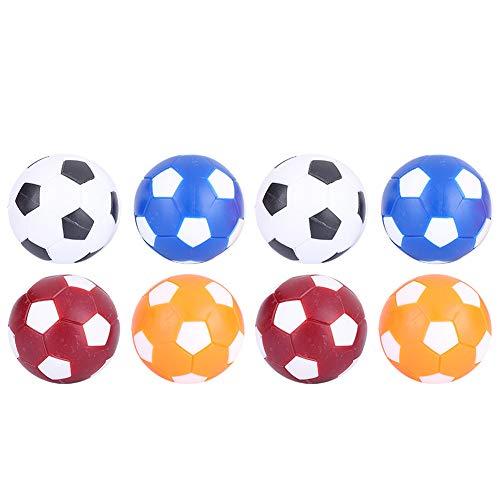 Hinzonek 8 Piezas de Pelotas de Futbolín Mini Bolas de Reemplazo de Fútbol de Mesa 36Mm Accesorio de Bola de Juego de Mesa Oficial Colorido
