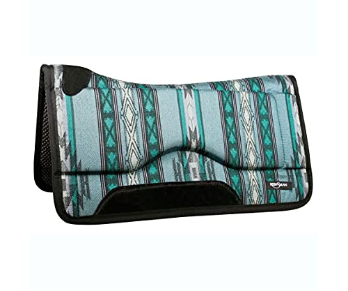 Reinsman Shock Absorbing Square Swayback Contour Saddle Pad, Tacky Too Bottom, 30' L x 30' D x 1' T,...