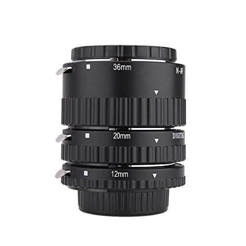 Meike MK-N-AF1-B Elektronische Berg Auto Focus Macro Extension Tube Set Ring für Nikon D7100 D7000 D5200 D5100 D5000 D3100 D3000 D800 D600 D300 D300 D90 D80