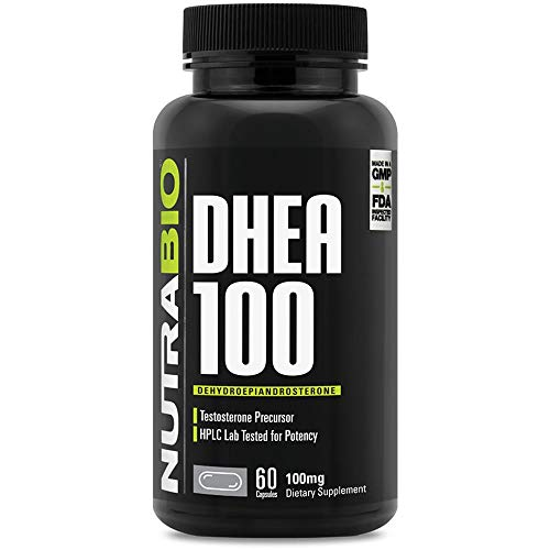 NutraBio DHEA Supplement, Supports Healthy Metabolism & Hormonal Balance, 100mg - 60 Capsules