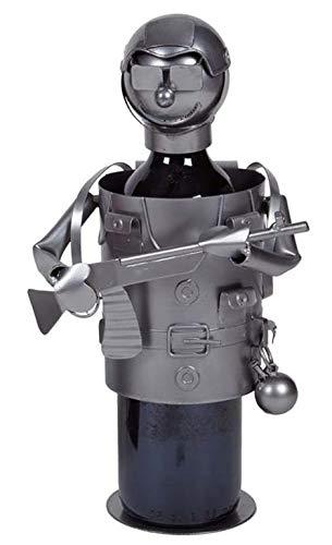 REGALOS LLUNA Porta Botella Metal Cazador