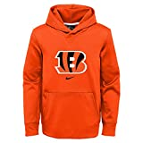 NFL Youth Circuit Logo Essential Performance Pullover Hoodie, Cincinncatti BENGALS Large (14/16)