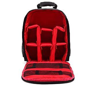 DSFSAEG Pro Camera Mochila, impermeable, resistente a la intemperie, bolsa de almacenamiento para cámara réflex digital, lente y accesorios