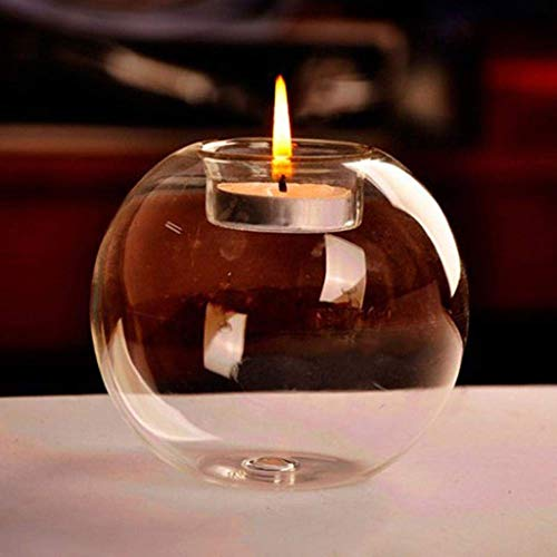 WYBFZTT-188 Classic Crystal Glass Candle Holder Bar Party Home Decoration Scented Candle Ball Diameter 10cm
