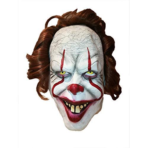 Original Cup - Maschera da Clown Spaventoso in Lattice - Stile Clown IT - Dimensione Adulta - per Festa, Halloween