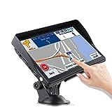 LAYDRAN - Sistema de navegación GPS para camión, 7 pulgadas HD portátil de camión SAT NAV GPS con cámara de velocidad y pantalla táctil de guía de voz y mapas de navegación para 2019 EU 46 países