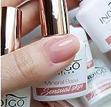 Esmalte de uñas de gel de color índigo con base mineral de color índigo, 7 ml (piel sensual)
