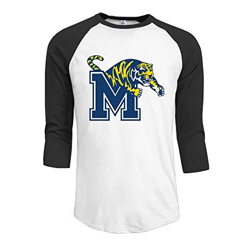 GUC de Manga 3/4para Hombre Camisetas–Universidad de Memphis Tigre Negro
