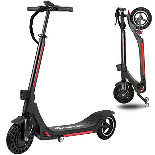 UWITGO Patinete Eléctrico para Adultos Scooter eléctrico Plegable 30km 350W 36V / 7.5 Ah Velocidad máxima 25km / h 10 Pulgadas E-Scooter de Largo Alcance Neumáticos Antideslizante