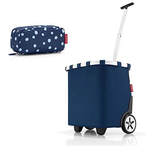 reisenthel - EXKLUSIVES ANGEBOT! carrycruiser + case 2 Einkaufskorb Einkaufstasche Einkaufstrolley Set Rolltasche Case Kosmetik Kosmetiktasche (dark blue)