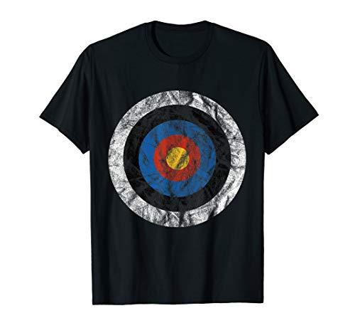 T-Shirt Zielscheibe Bullseye Pfeil und Bogen Geschenkidee