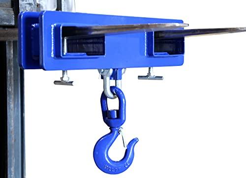 Lasthaken für Gabelstapler Verladehaken | Tragkraft 2500 kg / 1t | Maße (LxBxH): 445x120x130