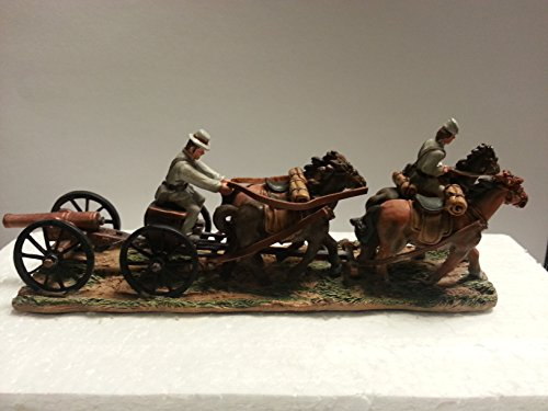 CONFEDERATE SOLDIERS HORSES & CANNON LIMBER PAINTED METAL SOLDIERS CIVIL WAR NEW