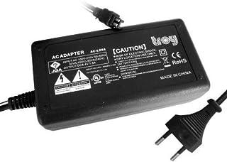 Troy-Adaptador de alimentación para AC-L25A AC-L25B AC-L200 compatible para Sony DCR-SR100 SR11 SR200 SR220 SR30 SR30E SR300 SR32 SR33E SR37E SR40 SR42 SR42A SR48 SR50E SR60 SR62 SR65 SR70E SR80 SR82 SR85 SR87 SR90E